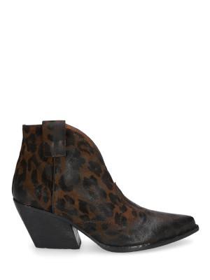 Tronchetto Texano Pelle Leopard MM70