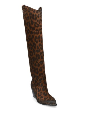 Stivale Cuissard Pelle Leopard