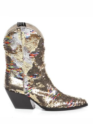 Stivale Texano Paillettes Gold