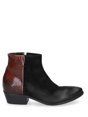 40mm Leather Low Ankle Boots