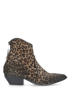 Texan Vintage Animalier Ankle Boots