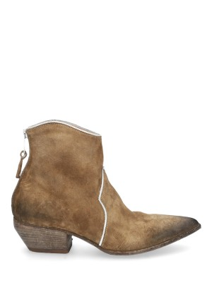 Texan Vintage Suede Ankle Boots