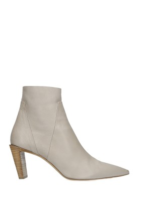 70MM White Ankle Boots
