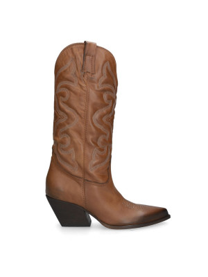 Brown Leather Texan Boots
