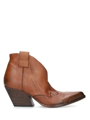 Brown Texan Leather Ankle Boots