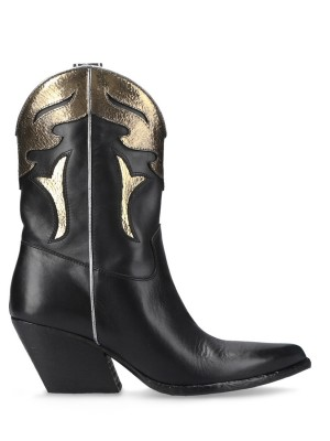 Black&Gold Texan Ankle Boots
