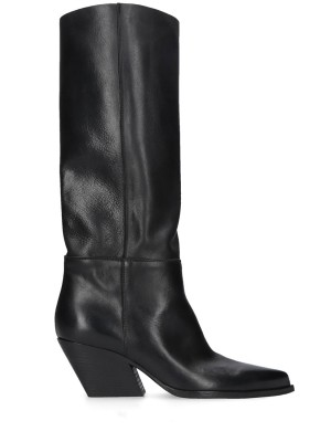 Black Soft Leather Boots