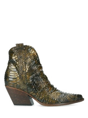 70MM Army Snake Ankle boots