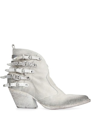 White Low Suede Texan Boot