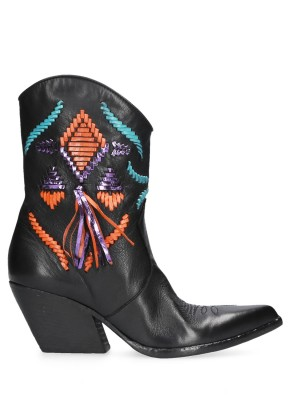 Black Texan Ankle Boots