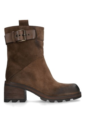 ANKLE BOOT BARK SUEDE LEATHER