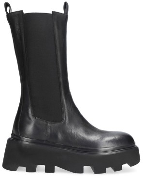 BLACK BEATLES ANKLE BOOTS