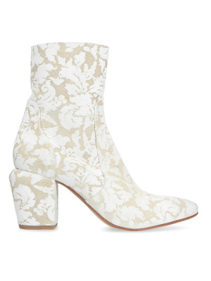 White Geisha Ankle Boots