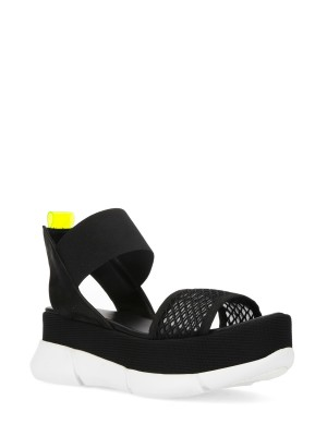 ULTRA-LIGHT PLATFORM SANDALS BLACK-YELLOW