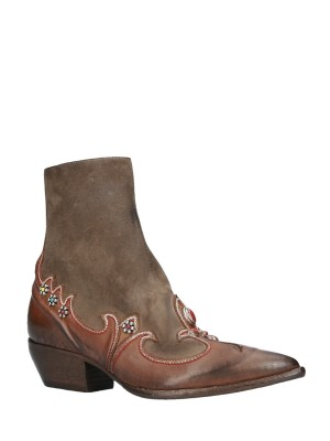 Texan Vintage Leather Ankle Boots
