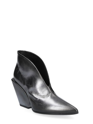 90MM Silver low ankle boot