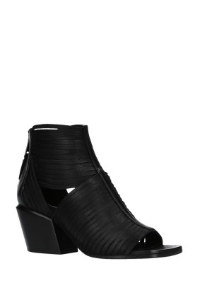 Open Toe Black Ankle Boots