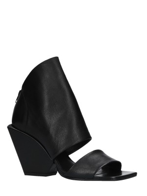 Open Toe Black Ankle Boots 90mm
