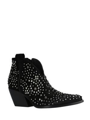 Studded Texan Ankle Boots