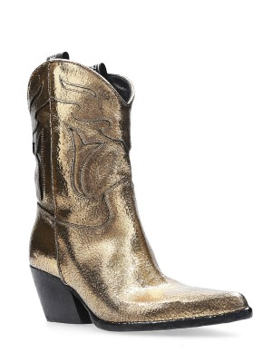 Golden Vintage Texan Ankle Boots