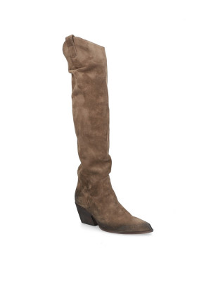 BROWN SUEDE HIGH BOOTS