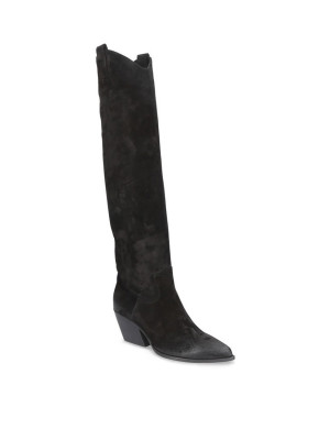 BLACK SUEDE HIGH BOOTS