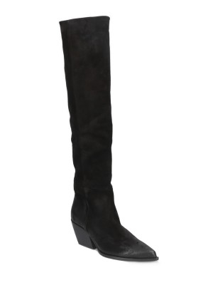 70MM BLACK SUEDE BOOTS