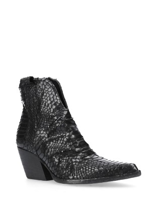 70MM Black Snake Ankle boots