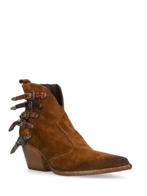 Brown Low Suede Texan Boot