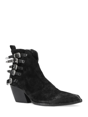 Black Texan Ankle Boots 70MM