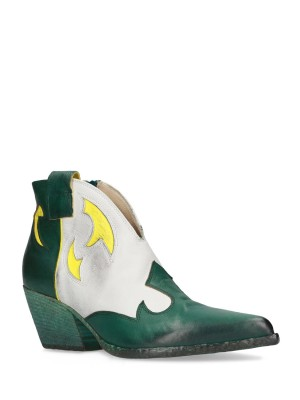PETROL BLACK ANKLE BOOTS