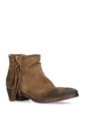 FRINGED MUD ANKLE BOOTS