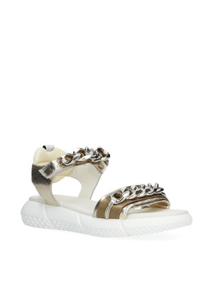 Sandal with gold chains