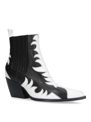 Black White Ankle Boots